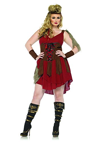 Leg Avenue 85131X - Deadly Huntress Kostuum Set, 3-delig, Maat 48-50, bordeaux