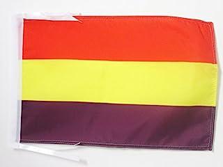 AZ FLAG Bandera ESPAÑA Republicana SIN Escudo 45x30cm - BANDERINA DE LA Republica ESPAÑOLA 30 x 45 cm cordeles