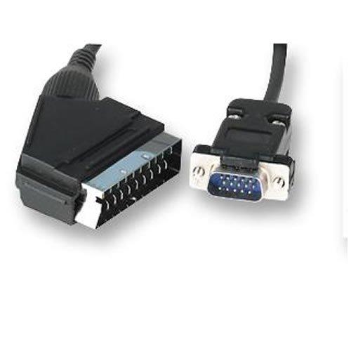 Cable euroconector de 1,5 m a SVGA VGA VGA de 15 pines...