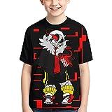 Undertale- Sans- Personalized 3D Printing T-Shirt Short Sleeve, Boy and Girl T-Shirt Short Sleeve Top Black