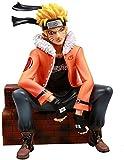 Naruto Leader GK Tide Marca Underworld Naruto Uzumaki Naruto Anime Figura Posición sentada 25 cm (9 85 Pulgadas) / Estatua de PVC estática / Colección Favorita de Anime y Otaku Fans