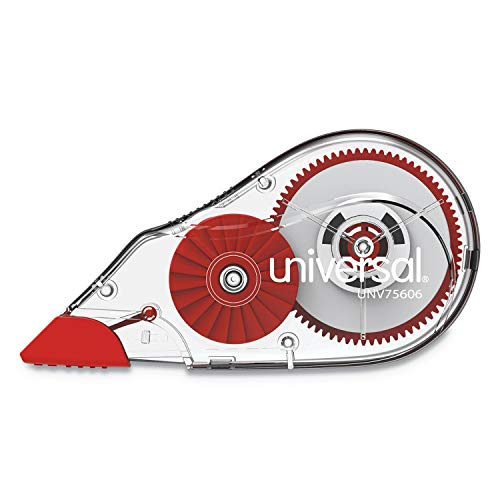 Universal 75606 Correction Tape with Two-Way Dispenser, Non-Refillable, 1/5-Inch x 315-Inch, 6/Pack