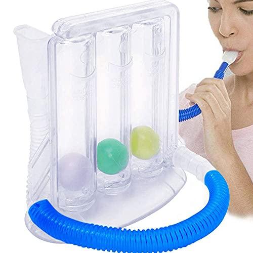 1 paquete de 3 bolas de espiro-metro de respiración vital, entrenador portátil de respiración profunda, entrenador de respiración agradable para el entrenamiento de respiración vital