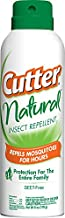 Cutter Natural Insect Repellent2, Aerosol, 6-Ounce, 12-Pack