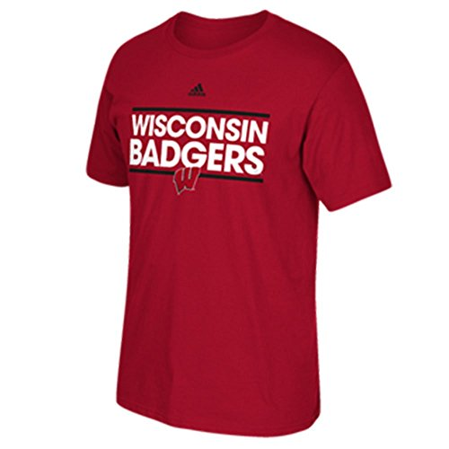 adidas Wisconsin Badgers Red Dassler Go-to Tee (Large)
