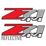 z71 4x4 Decals Reflective, for Silverado Z71 1500 2500 Gmc Sierra Suburban Stickers (2 Pack)