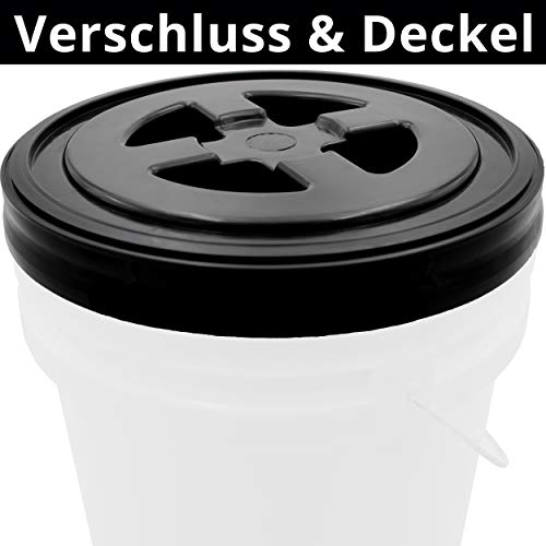 Cleaneed PREMIUM Eimerdeckel für Auto Wascheimer – Wasserdicht & Extra Stabil – Passend für alle gängigen Detailing Buckets – Gamma Eimer Deckel, perfekt als Hocker & Aufbewahrung, seal lid
