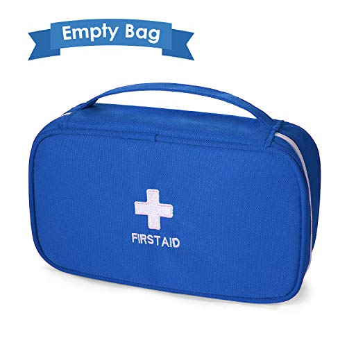 Ellsang First Aid Bag for Home Outdoor Travel Camping, Hiking, Backpacking, Travel, Vehicle(Empty Medical Bag) (Red)