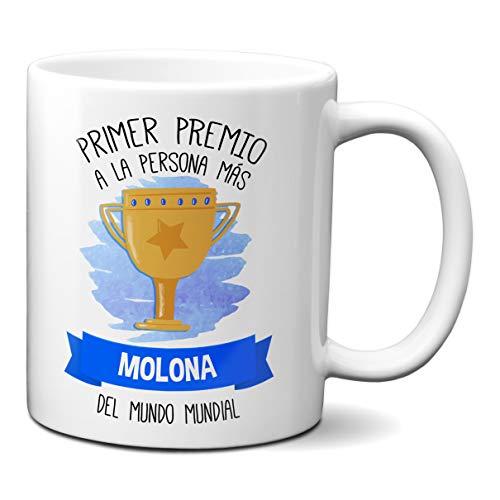 Taza Primer Premio A La Persona Mas Molona del Mundo Mundial - Tazas para Regalar En Cumpleaños para Chico Chica Amigos