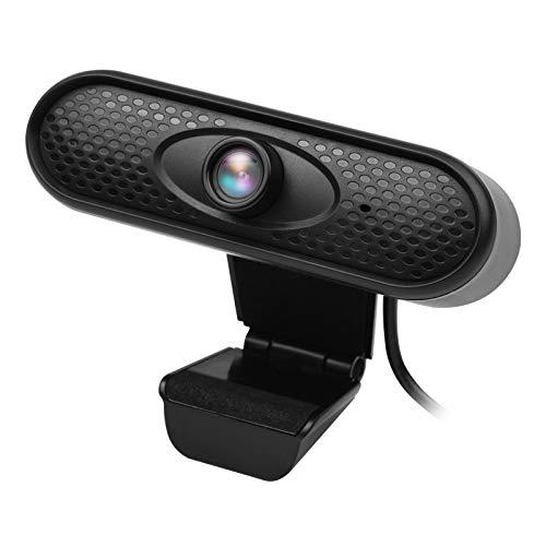 Cucudy Câmera para PC com webcam de alta definição Plug and Play 1080P com microfone embutido compatível com laptop/desktop TV para videoconferência.