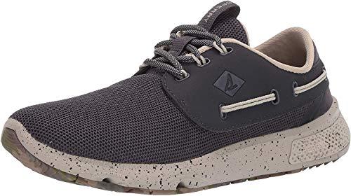 Sperry Men's 7 Seas 3-Eye Boat Shoe, Dk Grey, 13 M US