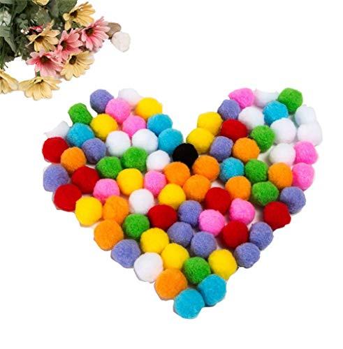 1Bag(1000PCS) 1inch/2.5cm Multicolor Mini Pom Poms Arts Crafts Pom Balls for Crafts Tiny Pom Pom for Hobby Supply DIY Art Creative Crafts Decorations