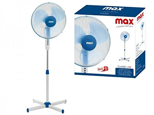 Max Casa I00910 Ventilatore a Piantana Classic Line diametro 40 Cm