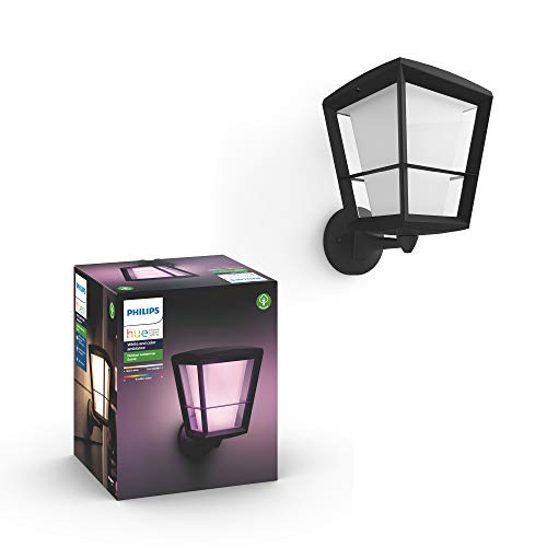 Philips Hue Econic Outdoor White & Color Wall Lantern, Up (Hue Hub Required, Smart Light Works with Alexa, Apple Homekit & Google Assistant)