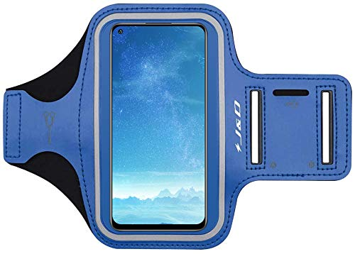 J&D Compatibile per Xiaomi Redmi Note 9/Redmi Note 9 PRO/Oppo Find X2 Neo/Oppo Find X2 Lite Fascia da Braccio Sportiva, Bracciale con Portachiavi Slot, Connessione Auricolare Durante L'allenamento