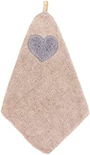 Kitchen Cute Love Heart Pattern Soft Hand Towel Cleaning Dish Microfiber Wipe Table Cloth(Blue) (Color : Khaki)