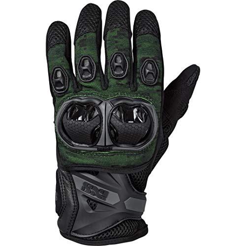 IXS Motorradhandschuhe kurz Motorrad Handschuh Montevideo Air S LT Handschuh schwarz/grün L, Herren, Tourer, Ganzjährig, Leder