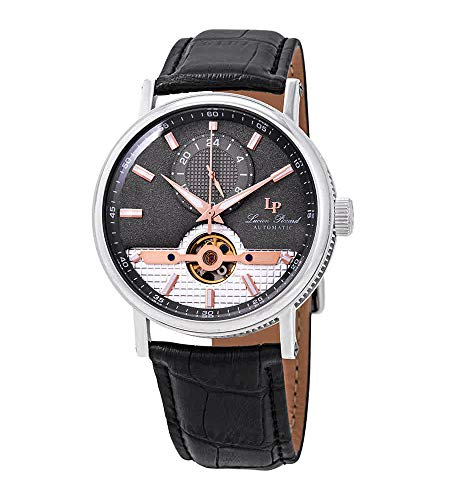 Lucien Piccard Open Heart 24 Automatic Grey Dial Men's Watch LP-28002A-014-RA