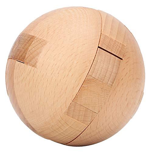 Tnfeeon Holzkugel Puzzles Magic Ball Lock Baustein Spielzeug pädagogische Denksportaufgaben Spiel für Erwachsene Kinder