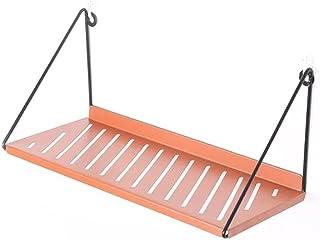浴室用ラック 強力粘着固定 ステインレスシャワーラック ステンレス金属製 シャワーラック お風呂場/キッチン/洗面所 多機能収納 (オレンジ)