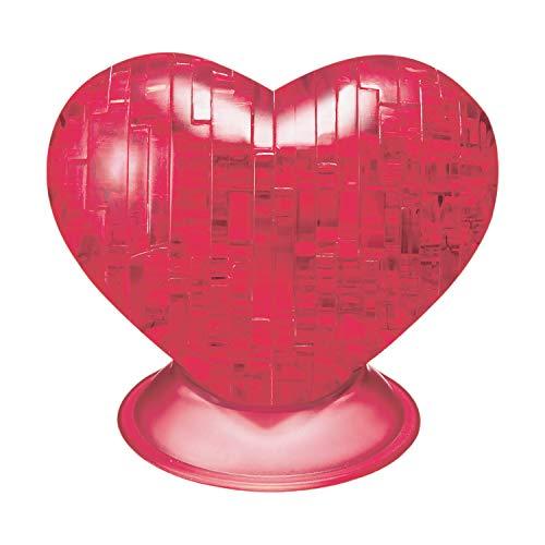 HCM Kinzel 59161 3D Crystal Puzzle Herz Rot 46 Teile, bunt