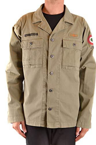 Luxury Fashion | Aeronautica Militare Heren MCBI38722 Groen Elasthaan Jassen | Seizoen Outlet