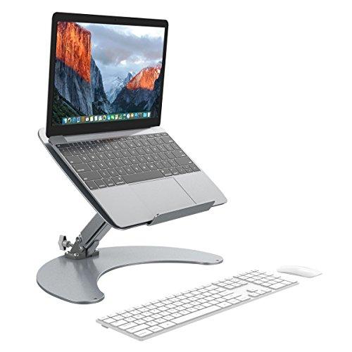 Slypnos Laptop Halter - Tablet Halterung Universal Tischhalter, Halterung, einstellbare Halter (Aluminium, Anti-Slip, Gute Ventilation, für Laptop Tisch, Tablet PC Handy usw.)