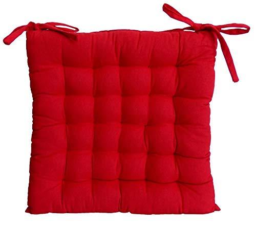 Galette de chaise 40x40x4 Rouge