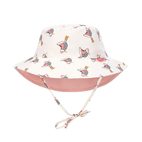 LÄSSIG Baby Kinder Sonnenhut Strandhut Sommerhut Sonnenschutz Kinderhut Babymütze Wendbar Atmungsaktiv UV-Schutz 50+/Splash & Fun Sun Protection Bucket Hat Mrs. Seagull, 09-12 Monate