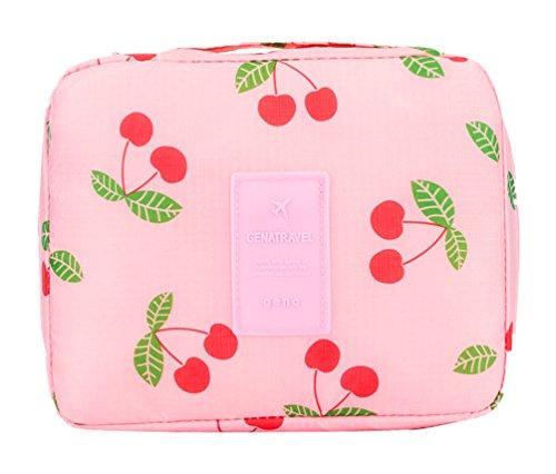 Beauty Case Da Viaggio Donna Wash Bag Make Up Cosmetici Beautycase Toilette Lavaggio Borsa Morbido Trucco Borse Uomo Ragazza Trousse Organizer Makeup Kit Viaggio Pochette Rosso