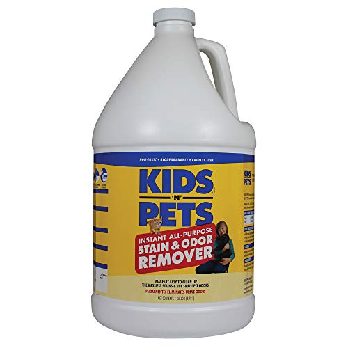 KIDS 'N' PETS - Instant All-Purpose Stain & Odor Remover – 128 fl oz - Permanently Eliminates Tough Stains & Odors – Even Urine Odors - No Harsh Chemicals, Non-Toxic & Child Safe, Multi-Color