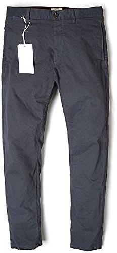 Dufjodi Mode Hommes Hommes Un Pantalon Slim Pur Coton Pantalons Tout Match Occasionnel Lavage,gris foncé,Trente