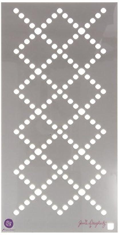 Prima Marketing Criss Cross Jamie Dougherty Bloom Stencil, 6 x 12