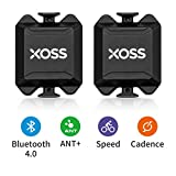 XOSS Cadencia/Velocidad Sensor para la computadora de la Bici teléfono Inteligente Bluetooth/Ant + Modo Dual Ciclismo Bicicleta inalámbrica (Cadencia/Velocidad Sensor x2 pcs)