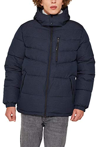 edc by ESPRIT Herren 119CC2G004 Jacke, Blau (Navy 400), Large (Herstellergröße: L)