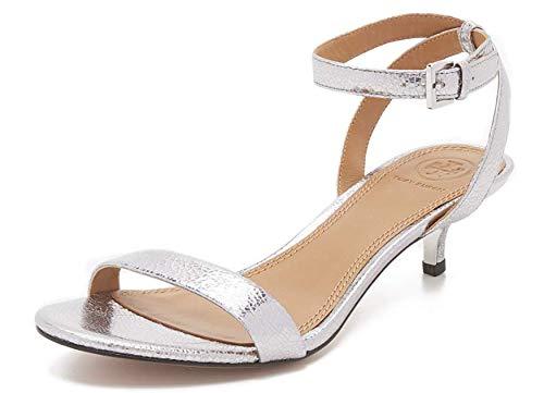 [Tory Burch] (トリーバーチ) Elana Metallic サンダル 靴 Ladies Sandals US7.5 (24.5cm) in Pewter [並行輸入品]