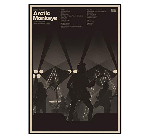 The Arctic Monkeys Band Music Class/Arctic Monkeys rockers retro kraft paper Poster Wall Home Bar Carteles Decoración para el hogar Regalo 42 * 30cm