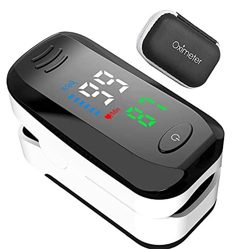 MOSHUO Monitor de oxígeno de Fitness Recargable portátil PR y Monitor de Lectura de Ejercicio SP02 Adecuado para Actividades de montañismo y Fitness
