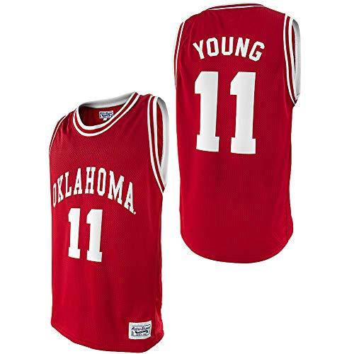 Elite Fan Shop Trae Young Retro Oklahoma Sooners Basketball Jersey - Large - Crimson