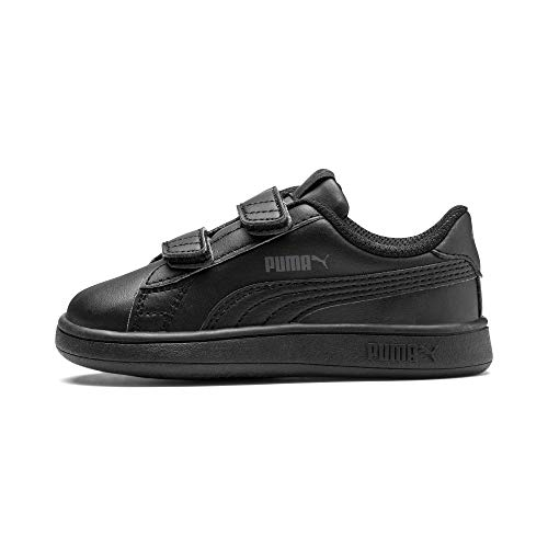 PUMA Unisex Baby Smash v2 L V Inf Sneaker, Black Black, 27 EU