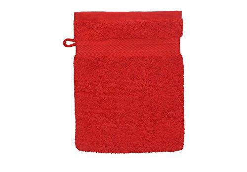 Betz Gant de Toilette pour Visage Corps Gant de Toilette Taille 16x21 cm 100% Coton Premium Couleur Rouge