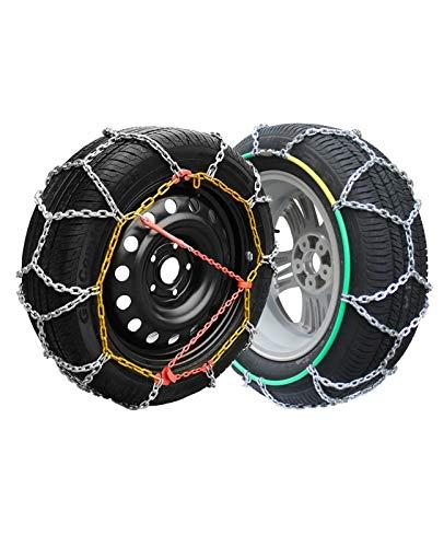 Rueda de coche neumático cadena de nieve Cadenas de nieve, neumáticos antideslizantes de emergencia de emergencia de la emergencia de la cadena de acero antideslizante de la cadena de acero de la niev