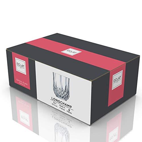 Creatable 14445, Serie Longchamp ECLAT, 6 Verres à Whisky de 32 cl, Transparent, 25 x 18 x 18,5 cm