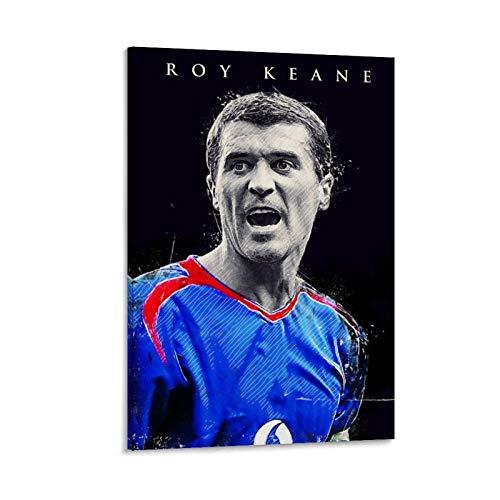 VBNFG Póster deportivo HD de Roy Keane, diseño de jugador de fútbol de superestrella de fútbol Roy Keane, cuadro decorativo de pared, lienzo para sala de estar, dormitorio, 40 x 60 cm