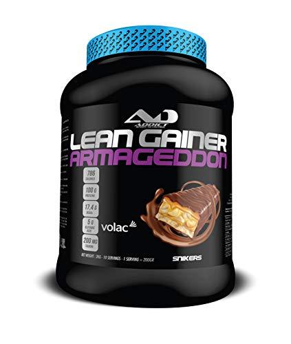 Protéine masse musculaire - Avoine instantanée - Prise de poids - Whey Protéine - Lean Gainer Armageddon - 2 Kilos - Gout Snikers - Addict Sport Nutrition
