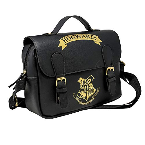 Harry Potter Lunch Bag Hogwarts Black & Gold (Satchel Style) Blue Studios Borse