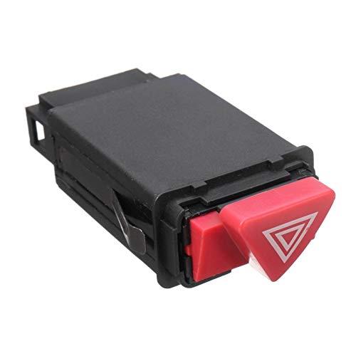 HEIFENGMUMA Estable Peligro de Coches de Emergencia Advertencia Interruptor luz indicadora del botón Rojo 8D0941509H 8D0 941 509 H for Audi A3 A4 A6 C5 Actuación