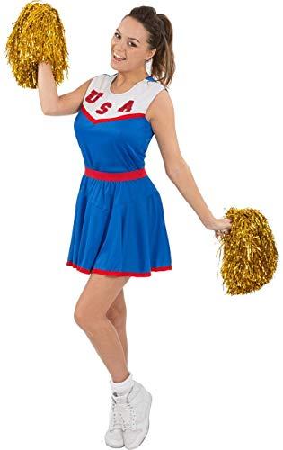 ORION COSTUMES Damen Team USA Blaue American Cheerleader Uniform Maskenkostüm
