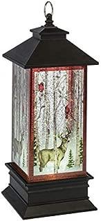 CBK Lighted Water Glitter Lantern with Cardinal and Deer