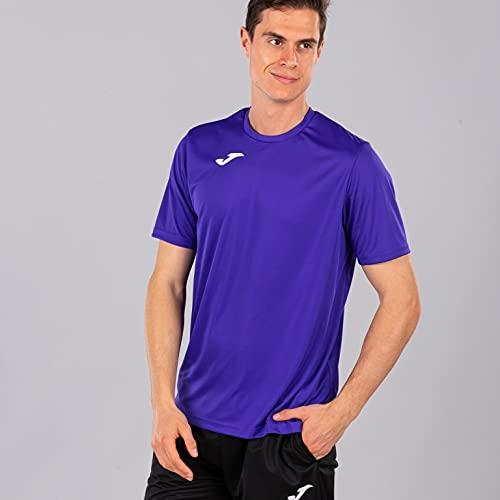 Joma Combi Camiseta Manga Corta, Hombre, Morado (Violeta), S